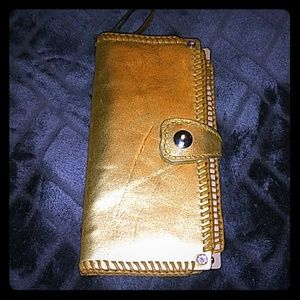 Gold Tandy Leather Clutch